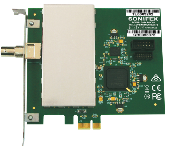 PC-DAB1-4  Multi-Ensemble DAB+/DAB Radcap PCle Card